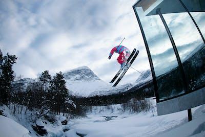 Juvet Skihopp Vinter Geirangerfjord