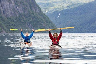 Kajakkpadling Tafjorden, foto Oddgeir Visnes
