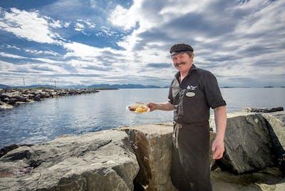 Bud Bryggjen i Bud Gammelsaltet fisk Nordvest